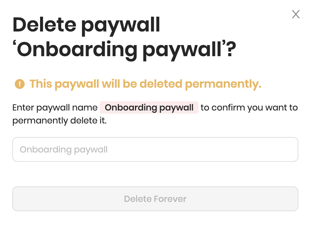 Deleting paywall